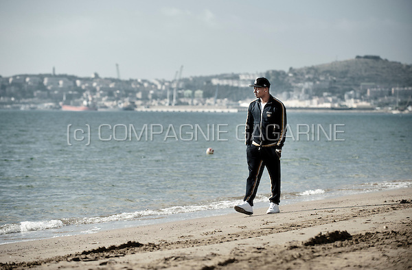 Belgian football player Gaby Mudingayi in Formia (Italy, 20/10/2014)