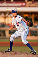 April 14 2010: Mike Perconte (49) of the Daytona Beach Cubs during a game vs. the Dunedin Blue Jays at Jackie Robinson Ballpark in Daytona Beach, Florida.  Daytona Cubs, the Florida State League High-A affiliate of the Chicago Cubs, lost to Dunedin, affiliate of the Toronto Blue Jays, by the score of 11-6.  Photo By Scott Jontes/Four Seam Images