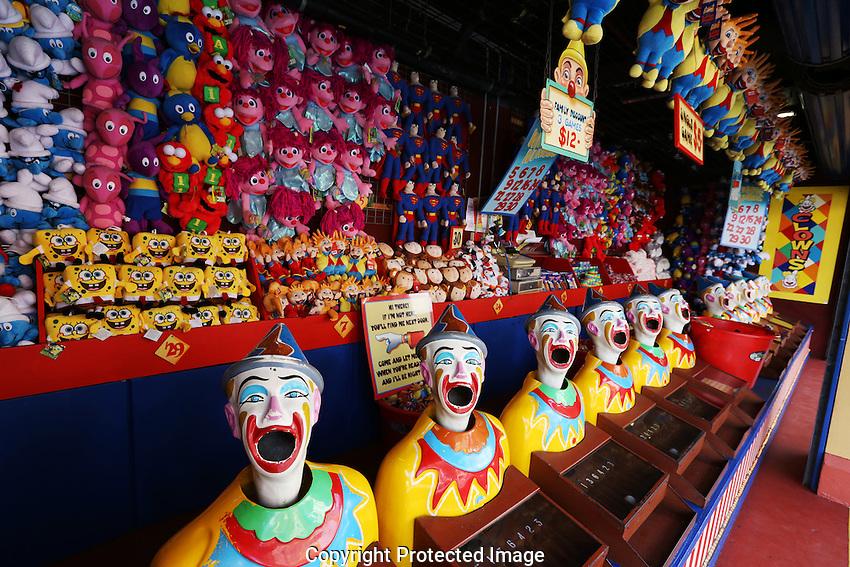 The Clowns in Sydney's Luna Park.  Sydney, Australia. Wednesday 6th June 2012. (Photo Steve Christo)