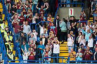 Burnley fans celebrate at full time<br /> <br /> Photographer Craig Mercer/CameraSport<br /> <br /> The Premier League - Chelsea v Burnley - Saturday August 12th 2017 - Stamford Bridge - London<br /> <br /> World Copyright &copy; 2017 CameraSport. All rights reserved. 43 Linden Ave. Countesthorpe. Leicester. England. LE8 5PG - Tel: +44 (0) 116 277 4147 - admin@camerasport.com - www.camerasport.com