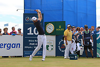 Chris Wood (ENG) on the 10th tee during Round 2 of the Dubai Duty Free Irish Open at Ballyliffin Golf Club, Donegal on Friday 6th July 2018.<br /> Picture:  Thos Caffrey / Golffile