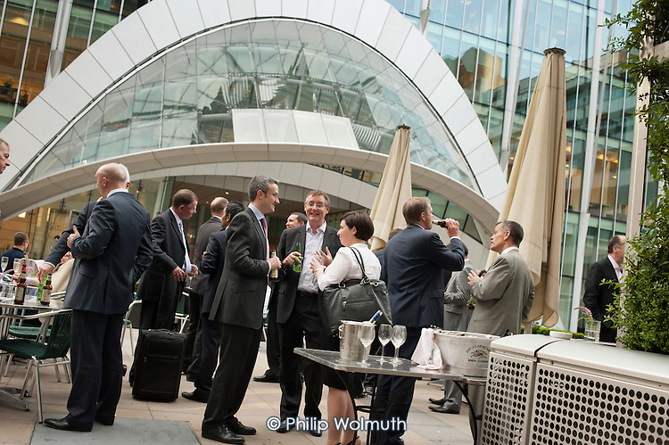 Businessmen and women in Moorgate, City of London