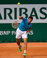 France, Paris , May 24, 2015, Tennis, Roland Garros, Igor Sijsling (NED)<br /> Photo: Tennisimages/Henk Koster