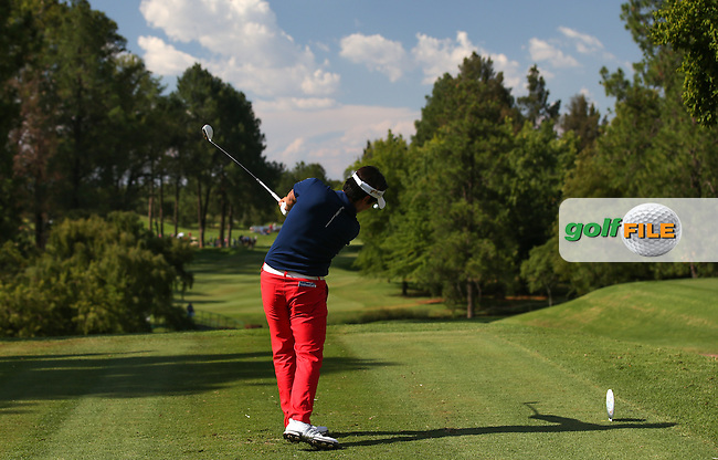 Daniel Im (USA) plays down the 17th during Round Three of the 2016 Tshwane Open, played at the Pretoria Country Club, Waterkloof, Pretoria, South Africa.  13/02/2016. Picture: Golffile | David Lloyd<br /> <br /> All photos usage must carry mandatory copyright credit (&copy; Golffile | David Lloyd)