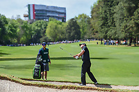 Patrick Reed (USA) chips on to 11 during round 2 of the World Golf Championships, Mexico, Club De Golf Chapultepec, Mexico City, Mexico. 2/22/2019.<br /> Picture: Golffile | Ken Murray<br /> <br /> <br /> All photo usage must carry mandatory copyright credit (&copy; Golffile | Ken Murray)