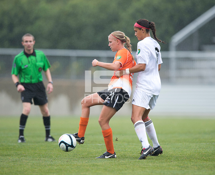 Samantha Huecker, Kimberly DeCesare.  The Charlotte Lady eagles defeated the Long Island Rough Riders, 4-0, to advance to the W-League Eastern Conference Championship.