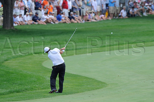 13 August 2009: Phil Mickelson launhes the ball from the rough on the first hole in the 91st PGA Championship at Hazeltine National Golf Club on August 13, 2009 in Chaska, Minnesota. (photo Charles Baus/Actionplus)