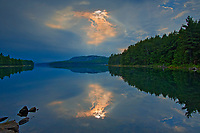 Storm light  reflected in Killarney  Lake<br />