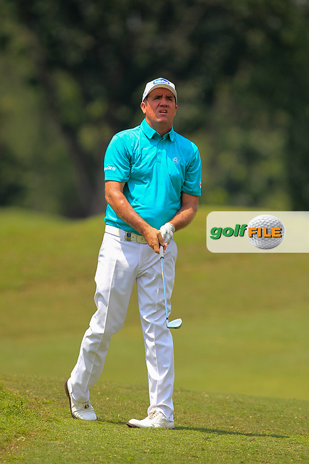 Scott Hend (AUS) in action on the 2nd fairway during Round 1 of the Maybank Championship at the Saujana Golf and Country Club in Kuala Lumpur on Thursday 1st February 2018.<br /> Picture:  Thos Caffrey / www.golffile.ie<br /> <br /> All photo usage must carry mandatory copyright credit (© Golffile | Thos Caffrey)