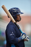 Charlotte Stone Crabs Ronaldo Hernandez (27) during a Florida State League game against the Bradenton Marauders on April 10, 2019 at LECOM Park in Bradenton, Florida.  Bradenton defeated Charlotte 2-1.  (Mike Janes/Four Seam Images)