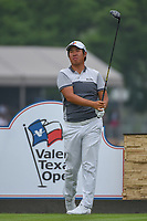 Byeong Hun An (KOR) watches his tee shot on 11 during day 3 of the Valero Texas Open, at the TPC San Antonio Oaks Course, San Antonio, Texas, USA. 4/6/2019.<br /> Picture: Golffile | Ken Murray<br /> <br /> <br /> All photo usage must carry mandatory copyright credit (&copy; Golffile | Ken Murray)