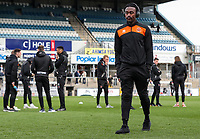 Blackpool's Joe Dodoo inspecting the pitch before the match <br /> <br /> Photographer Andrew Kearns/CameraSport<br /> <br /> The EFL Sky Bet League Two - Bristol Rovers v Blackpool - Saturday 2nd March 2019 - Memorial Stadium - Bristol<br /> <br /> World Copyright © 2019 CameraSport. All rights reserved. 43 Linden Ave. Countesthorpe. Leicester. England. LE8 5PG - Tel: +44 (0) 116 277 4147 - admin@camerasport.com - www.camerasport.com