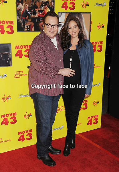 """HOLLYWOOD, CA - JANUARY 23: Tom Arnold and Ashley Groussman attend the premiere of Relativity Media's """"Movie 43"""" at TCL Chinese Theatre on January 23, 2013 in Hollywood, California. ..Credit: Mayer/face to face..- No Rights for USA, Canada and France -"""