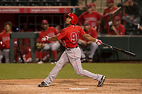 Los Angeles Angels outfielder Ben Revere (94) during a Minor League Spring Training game against the Milwaukee Brewers at Tempe Diablo Stadium on March 29, 2018 in Tempe, Arizona. (Zachary Lucy/Four Seam Images)