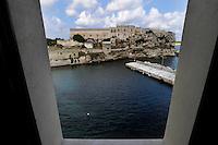 Isola di Pianosa.Pianosa Island.Pianosa. Il borgo.Village.Il porticciolo. The pier.Il Forte Teglia. The Teglia Fort..