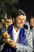 Winning European Team Captain Jose Maria Olazabal (ESP) after Sunday's Singles Matches of the 39th Ryder Cup at Medinah Country Club, Chicago, Illinois 30th September 2012 (Photo Colum Watts/www.golffile.ie)
