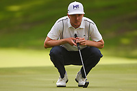 Jonas Blixt (SWE) lines up his putt on 5 during round 2 of the 2019 Charles Schwab Challenge, Colonial Country Club, Ft. Worth, Texas,  USA. 5/24/2019.<br /> Picture: Golffile   Ken Murray<br /> <br /> All photo usage must carry mandatory copyright credit (© Golffile   Ken Murray)