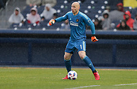 Nashville, TENN. - Saturday February 10, 2018: Brad Guzan during a preseason exhibition match between Nashville SC vs Atlanta United FC at First Tennessee Park.
