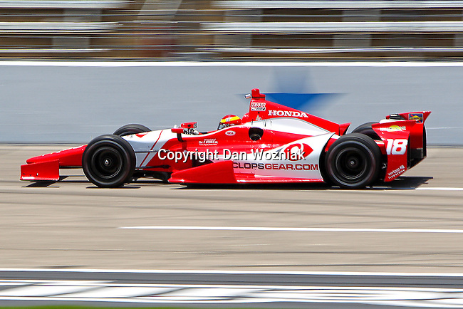 Ana Beatriz (18) driver for Dale Coyne Racing in action during qualifying for the IZOD Indycar Firestone 550 race at Texas Motor Speedway in Fort Worth,Texas.