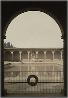 Occidental College's Taylor Pool, scanned file photo from Special Collections.