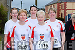 Listowel runners Eileen Walsh, Margaret Cahill, Joan Keane, Mags Molneaux and Majella Stack at the Kingdom 10 mile road race in Castleisland on Sunday
