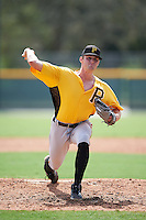 Pittsburgh Pirates pitcher Matt Frawley (74) during an Instructional League Intrasquad Black & Gold game on September 28, 2016 at Pirate City in Bradenton, Florida.  (Mike Janes/Four Seam Images)