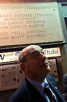 Roma 26 Marzo 2009 <br /> La Sezione di Alleanza nazionale a piazza Tuscolo &egrave; la prima a cambiare l'insegna e diventare una sezione del Partito del Popolo delle Libert&agrave;.  Il senatore Domenico Gramazio<br /> Rome March 26 th 2009 <br /> The Section National Alliance Party to Tuscolo square, is the first one to change the insignia and to become a section of the People of the Liberties Party .<br /> The senator Domenico Gramazio