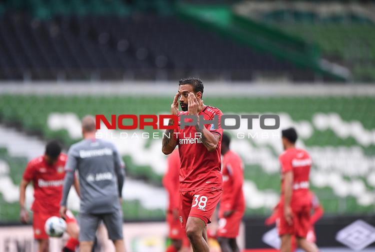 Vor dem Spiel: Karim Bellarabi (Leverkusen).<br /><br />Sport: Fussball: 1. Bundesliga: Saison 19/20: 26. Spieltag: SV Werder Bremen - Bayer 04 Leverkusen, 18.05.2020<br /><br />Foto: Marvin Ibo GŸngšr/GES /Pool / via gumzmedia / nordphoto