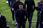 Juventus' player Cristiano Ronaldo visits the field before UEFA Champions League match between Atletico de Madrid and Juventus at Wanda Metropolitano Stadium in Madrid, Spain. February 19, 2019. (ALTERPHOTOS/A. Perez Meca)