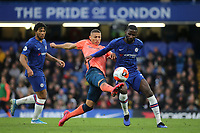 Richarlison of Everton and Chelsea's Antonio Rudiger challenge for the ball during Chelsea vs Everton, Premier League Football at Stamford Bridge on 8th March 2020