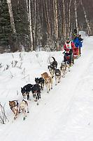 Bryan Mills w/Iditarider on Trail 2005 Iditarod Ceremonial Start near Campbell Airstrip Alaska SC