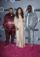 WEST HOLLYWOOD, CA - FEBRUARY 8: DJ Khaled,  Evvie McKinney, Sean Combs, Diddy, at The FOX season finale viewing party for The Four: Battle For Stardom at Delilah in West Hollywood, California on February 8, 2018. Credit: Faye Sadou/MediaPunch
