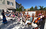 The Carson City Symphony Strings in the Schools performs Thursday, Aug. 4, 2011 at Sierra Place Senior Living in Carson City, Nev.  .Photo by Cathleen Allison