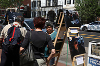 (180512RREI0042) La Esquina Project goes to La Esquina.  The documentary project La Esquina revolves around the history of the Latinos at the corner of Mt. Pleasant St. and Kenyon St. NW. Washington DC. May 12, 2018 . ©  Rick Reinhard  2018     email   rick@rickreinhard.com
