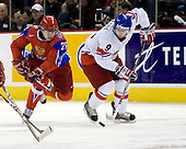 Evgeni Dadonov (Russia - 26), Jan Kana (Czech Republic - 9) - Russia defeated the Czech Republic 5-1 on Friday, January 2, 2009, at Scotiabank Place in Kanata (Ottawa), Ontario, during the 2009 World Junior Championship.