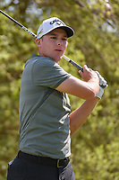 Aaron Wise (USA) watches his tee shot on 12 during day 1 of the WGC Dell Match Play, at the Austin Country Club, Austin, Texas, USA. 3/27/2019.<br /> Picture: Golffile | Ken Murray<br /> <br /> <br /> All photo usage must carry mandatory copyright credit (© Golffile | Ken Murray)