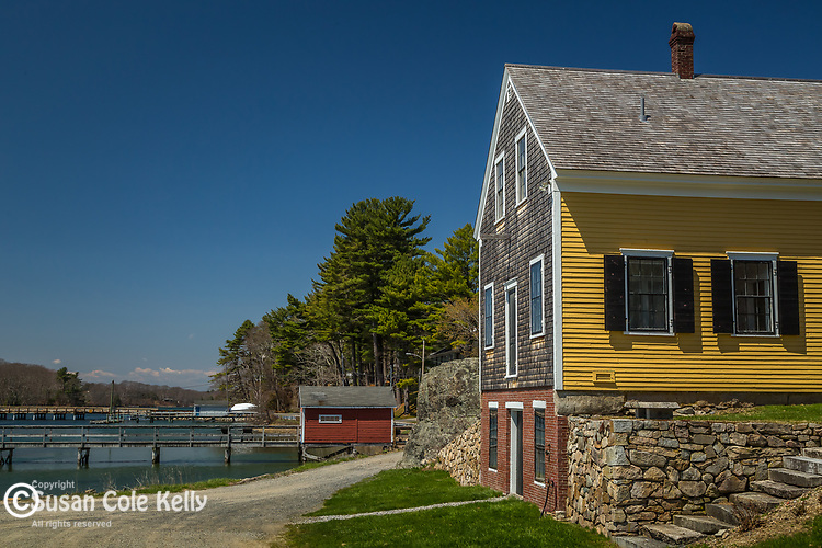 The G. A. Marshall store on the York River in York Harbor, Maine, USA