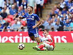 Eden Hazard of Chelsea tackles by Mesut Ozil of Arsenal during the Emirates FA Cup Final match at Wembley Stadium, London. Picture date: May 27th, 2017.Picture credit should read: David Klein/Sportimage