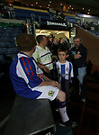 Blackburn Rovers 3, Huddersfield Town 1, 22/09/2005. Ewood Park, Carling Cup. A Huddersfield Town mascot waiting nervously at the tunnel for his big moment. Photo by Colin McPherson.