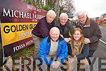 Donal O'Reilly, Marie Murphy, Michael Doyle, Michael Spillane and John Cronin, Fossa Historical Society, pictured at the sign wishing  actor Michael Fassbender, success in the Golden Globes award to be announced on Sunday.