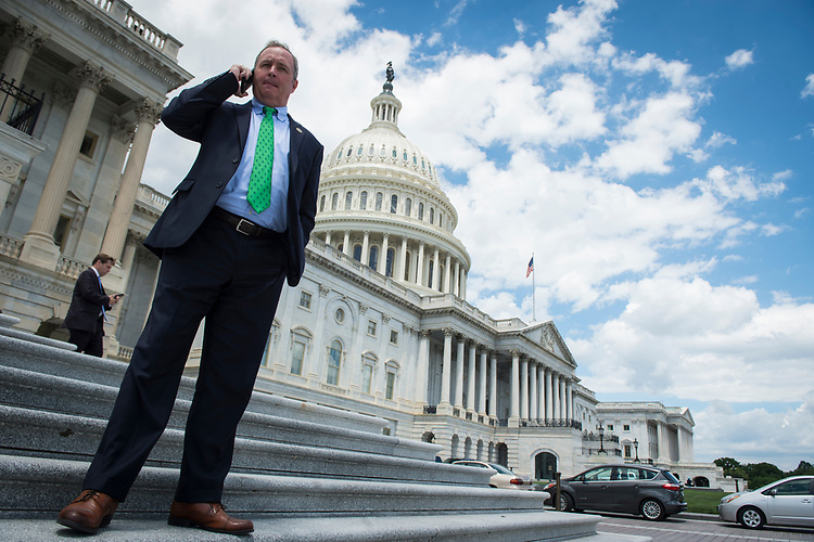 UNITED STATES – June 28: Rep. Jeff Denham, R-Calif., leaves the Capitol after casting his last vote before the Independence Day recessThursday June 28, 2018.  (Photo By Sarah Silbiger/CQ Roll Call)