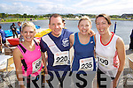 from left Sinead Dowling, David, Olga Slattery and Laraine O'donnell pictured at the Rose of Tralee International 10k Race in Tralee on Sunday.