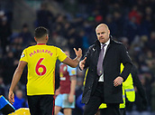 9th December 2017, Turf Moor, Burnley, England; EPL Premier League football, Burnley versus Watford; Burnley manager Sean Dyche shakes hands with Adrian Mariappa of Watford at the end of the game