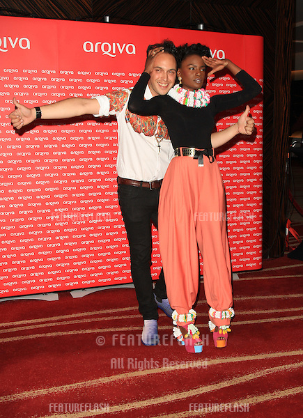 Shingai Shoniwa and Dan Smith of Noisettes arriving at the Arqiva Commercial Radio Awards 2012.London, England. 04/07/2012 Picture by: Henry Harris / Featureflash....