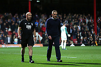 Birmingham City Manager, Garry Monk, is sent off in the second half during Brentford vs Birmingham City, Sky Bet EFL Championship Football at Griffin Park on 2nd October 2018