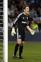 Troy Perkins Montreal goal keeper..Sporting Kansas City defeated Montreal Impact 2-0 at Sporting Park, Kansas City, Kansas.