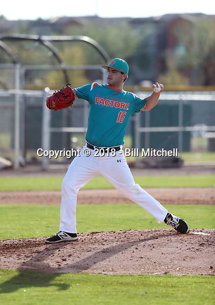 Yordani Carmona takes part in the 2018 Under Armour Pre-Season All-America Tournament at the Chicago Cubs training complex on January 13-14, 2018 in Mesa, Arizona (Bill Mitchell)