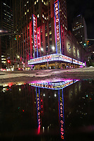 NOVA YORK, EUA, 02.06.2019 - TURISMO-EUA - Vista do Radio City Hall casa de espetáculos na cidade de Nova York nos Estados Unidos na noite deste domingo, 02. (Foto: William Volcov/Brazil Photo Press)