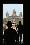 CAMBODIA  -  APRIL 7, 2005:  Tourists visit Angkor Wat in Siem Reap on April 7th, 2005 in Cambodia.  (PHOTOGRAPH BY MICHAEL NAGLE)