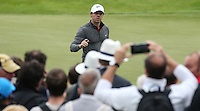 Rory McIlroy (NIR) salutes the cheers on the 5th green during Round Two of the 100th Open de France, played at Le Golf National, Guyancourt, Paris, France. 01/07/2016. Picture: David Lloyd | Golffile.<br /> <br /> All photos usage must carry mandatory copyright credit (&copy; Golffile | David Lloyd)